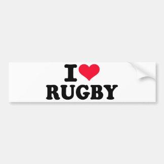 Ik houd van Rugby Bumpersticker