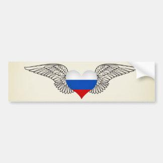 Ik houd van Russische Federatie - vleugels Bumpersticker