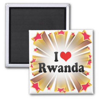 Ik houd van Rwanda Magneet