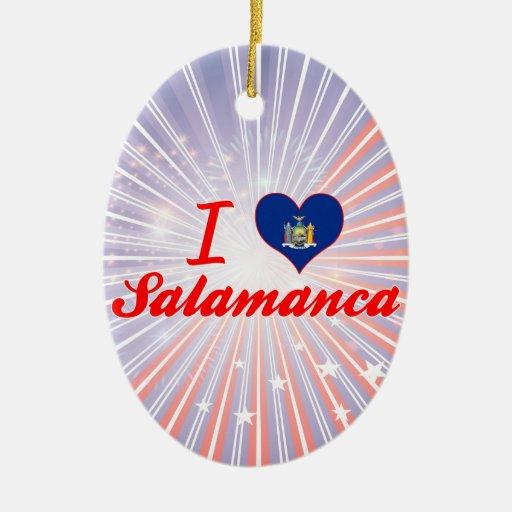 Ik houd van Salamanca, New York Kerstboom Ornamenten