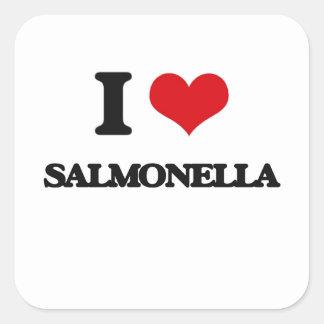 Ik houd van Salmonella's Vierkant Sticker