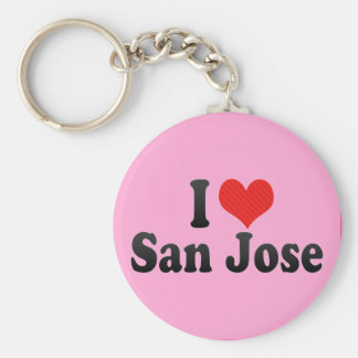 Ik houd van San Jose Sleutelhanger