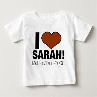 IK HOUD VAN SARAH PALIN BABY T SHIRTS