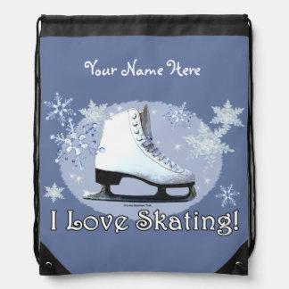 Ik houd van schaatsend! backpacks