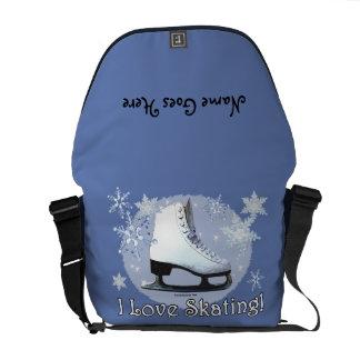 Ik houd van Schaatsende 2 Courier Bags