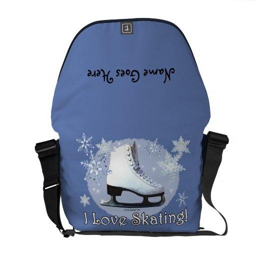Ik houd van Schaatsende 2 Messenger Bag