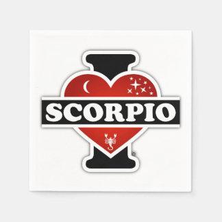 Ik houd van Schorpioen Wegwerp Servetten