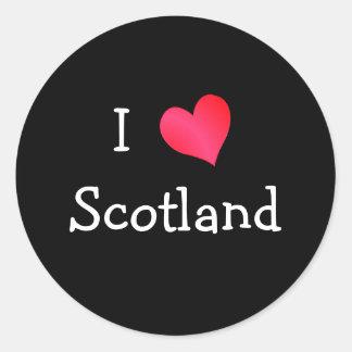 Ik houd van Schotland Ronde Sticker