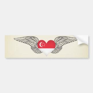 Ik houd van Singapore - vleugels Bumpersticker