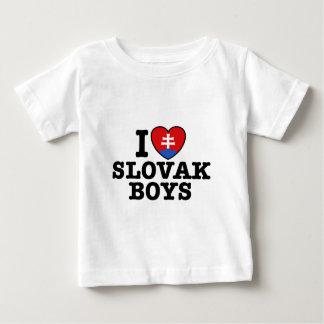 Ik houd van Slowaakse Jongens Baby T Shirts