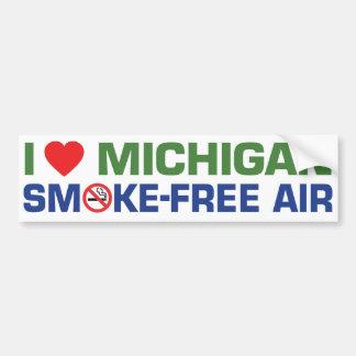 Ik houd van Smoke-Free Lucht van Michigan Bumpersticker