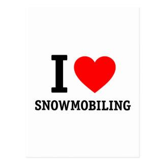 Ik houd van Snowmobiling Briefkaart