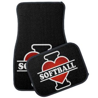 Ik houd van Softball Auto Vloermat