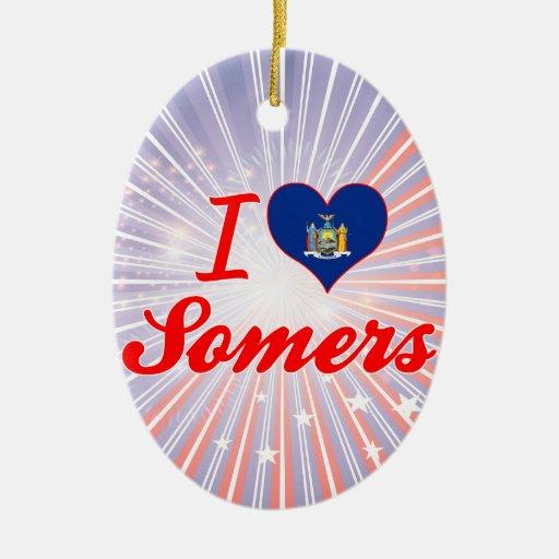 Ik houd van Somers, New York Kerstboom Ornamenten