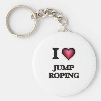 Ik houd van Sprong Roping Sleutelhanger