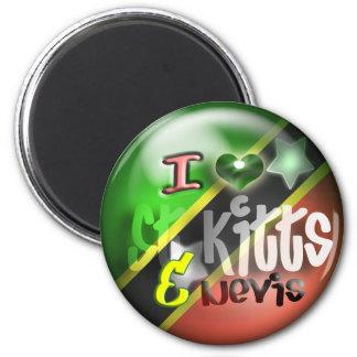 Ik houd van St. Kitts & Nevis de Magneet van de Pa
