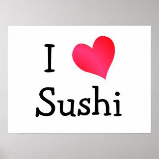 Ik houd van Sushi Print