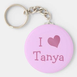 Ik houd van Tanya Basic Ronde Button Sleutelhanger