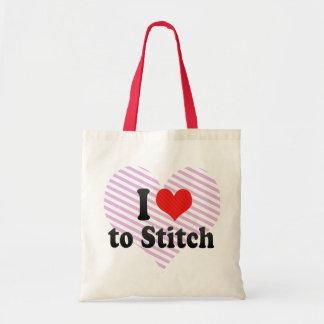 Ik houd van te stikken tassen