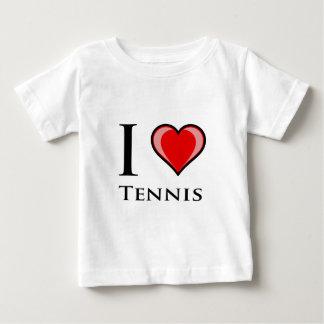 Ik houd van Tennis Baby T Shirts