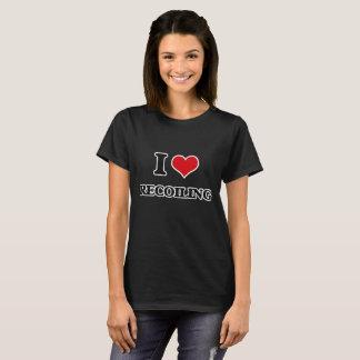 Ik houd van terugdeinzend t shirt