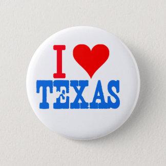 Ik houd van Texas Ronde Button 5,7 Cm
