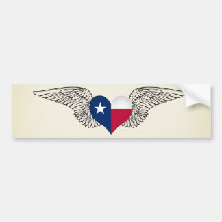 Ik houd van Texas - vleugels Bumpersticker