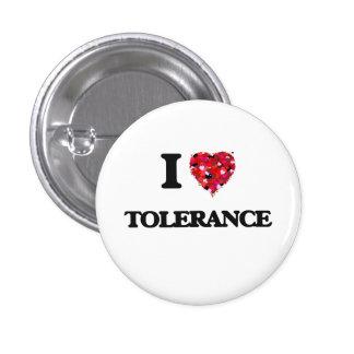 Ik houd van Tolerantie Ronde Button 3,2 Cm