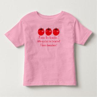 Ik houd van tomaten! kinder shirts