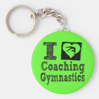 Ik houd van trainend Gymnastiek Sleutelhanger