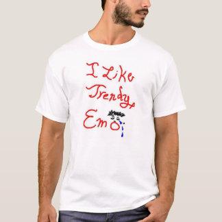 Ik houd van trendy emo t shirt