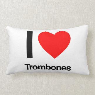 ik houd van trombones lumbar kussen