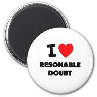 Ik houd van Twijfel Resonable Koelkast Magneetjes