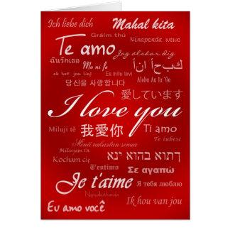Ik houd van u (30 Talen) Kaart