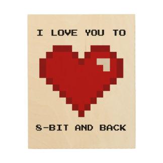 Ik houd van u aan Art. met 8 bits en het Achter Hout Prints