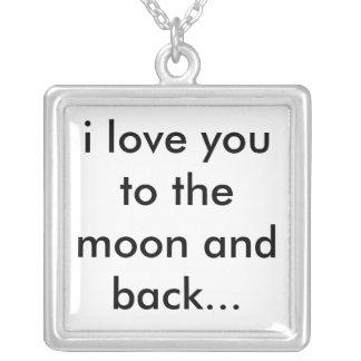 ik houd van u aan de maan en achter… zilver vergulden ketting