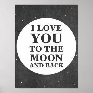 Ik houd van u aan de Maan en het AchterPoster van Poster