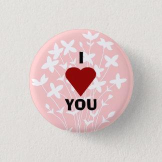 Ik houd van u dichtknoop ronde button 3,2 cm