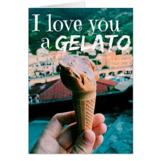 Ik houd van u een Gelato Wenskaart