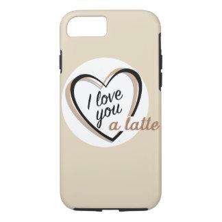 Ik houd van u een latte   iPhone 8/7 hoesje