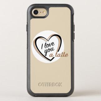 Ik houd van u een latte   OtterBox symmetry iPhone 8/7 hoesje