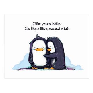 Ik houd van u een Lottle - Briefkaart