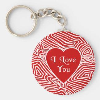 Ik houd van u Hart Keychain Sleutelhanger
