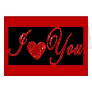 Ik houd van u! - Het Wenskaart van het aanzoek