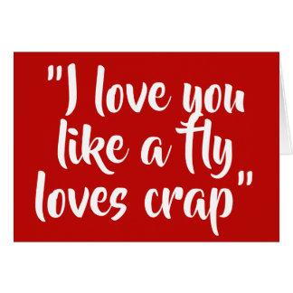 Ik houd van u houd van een vlieg houd van crap kaart