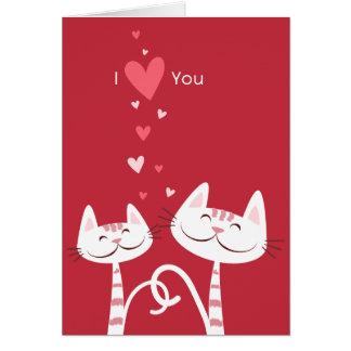 Ik houd van u Katten Valentijn Briefkaarten 0