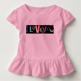 Ik houd van u kinder shirts