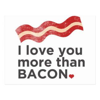 Ik houd van u meer dan Bacon Briefkaart