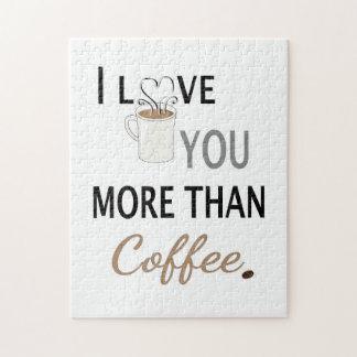 Ik houd van u meer dan Koffie Puzzel