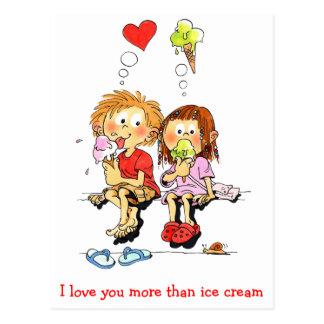 Ik houd van u meer… Grappige Valentijnse Kaarten Briefkaart